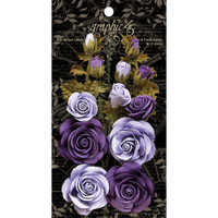 Graphic 45 Staples Rose Bouquet Collection 15/Pkg - French Lilac & Purple Royalty G4501787