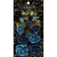 Graphic 45 Staples Rose Bouquet Collection 15/Pkg - Bon Voyage & French Blue G4501788