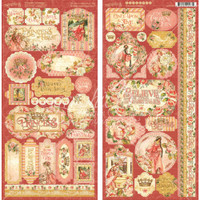 """Graphic 45 - Cardstock Stickers (2) 6x12"""" sheets - Princess G4501804"""