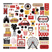 Photo Play Colorplay - 12x12 Cardstock Sticker Sheet - A Day At The Park ADP9177