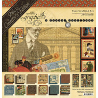"""Graphic 45 - Deluxe Collector's Edition Pack 12""""x12"""" - A Proper Gentleman (G4501806)"""