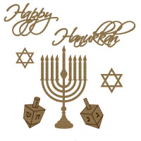 Creative Embellishments - Chipboard - Happy Hanukkah Set