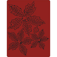 Sizzix - Tim Holtz - Texture Fades Embossing Folder - Tattered Poinsettia 662198