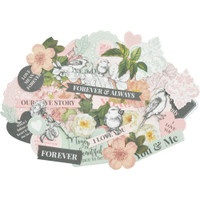 Kaisercraft - Die Cut Cardstock Shapes & Ephemera - Everlasting CT950