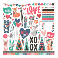 "Photo Play Colorplay - Collection Paper Pack 12""X12"" - Wild Love (WL9166)"