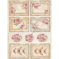 Lemon Craft - Decorative paper - Cut-apart Tags & Images - Vintage Time 030  LP-VT030