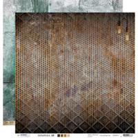 "Studio Light - Double-Sided Cardstock 12""X12"" - Industrial 3.0 - Metal & Distress Steampunk Bulbs (SCRAP12)"