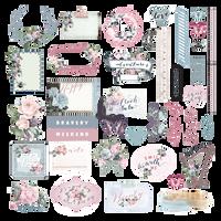 Prima - Ephemera & Stickers 40 pieces - Poetic Rose 631734