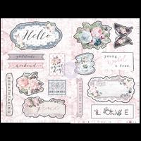 Prima - Chipboard - Poetic Rose 631918