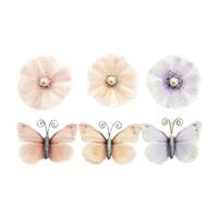 Prima - Poetic Rose - Flowers -  Dainty Dreams W/Butterflies 637361