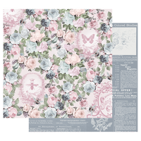 Prima - 12x12 Double-Sided Cardstock - Poetic Rose - Royal Command 849054
