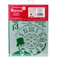 """Stamperia - D 7.87"""" X 5.91"""" Stencil - Steampunk Man KSD281"""