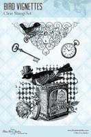 Blue Fern Studios - Clear Stamp - Bird Vignettes (109973)