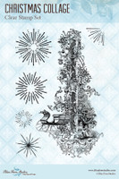 Blue Fern Studios - Clear Stamp - Christmas Collage (104176)