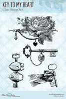 Blue Fern Studios - Clear Stamp - Key To My Heart (111372)