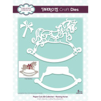 Creative Expressions - Cathie Shuttleworth - Paper Cuts Edger Craft Dies - Rocking Horse (CEDPC050)