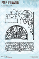 Blue Fern Studios - Clear Stamp - Parisian Ironwork (145278)