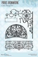 Blue Fern Studios - Clear Stamp - Parisian Ironwork (145278)
