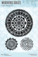Blue Fern Studios - Clear Stamp - Weathered Doilies (149979)