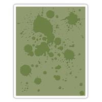 Sizzix - Tim Holtz - Texture Fades Embossing Folder - Ink Splats (662366)