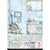 Ciao Bella - Double-Sided Creative Pad A4 8/Pkg - Sound Of Summer (CBCL034)