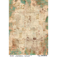 Ciao Bella - Codex Leonardo Collection - I Codici - Piuma Carta Riso Rice Paper Sheet (CBR037)