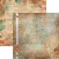 Ciao Bella - 12x12 Double-Sided Cardstock - Codex Leonardo - I Codici ( CBCL12 026 )