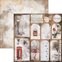 """Ciao Bella - 12""""X12"""" Double-Sided Cardstock - Snow and the City - Have A Happy Snowy Day ( CBSC12 054)"""
