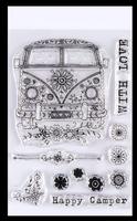 Pink Ink Designs - A5 Clear Stamp Set - Camper ( PI003)
