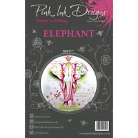 Pink Ink Designs - A5 Clear Stamp Set - Elephant ( PI004)