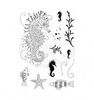 Pink Ink Designs - A5 Clear Stamp Set - Seahorse ( PI009)