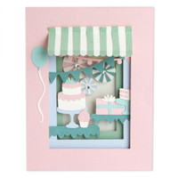 Sizzix - Courtney Chilson - Thinlits Die Set 22PK - Birthday Shadow Box (663581)
