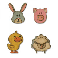 Sizzix - Tim Holtz - Sidekick Side-Order Thinlits Set - Critters (664151)