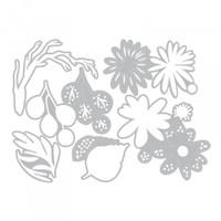 Sizzix - Tim Holtz - Thinlits Die Set 6PK - Funky Floral, Large (664158)