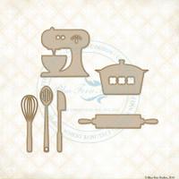 Blue Fern Studios - Chipboard - Cute Kitchen Set (993915)