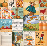 "Carta Bella - Autumn - Double -Sided Cardstock 12""x12"" - Journaling Cards"