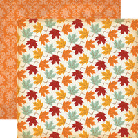"Carta Bella - Autumn - Double -Sided Cardstock 12""x12"" - Colorful Leaves (CBATM57005)"