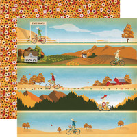 "Carta Bella - Autumn - Double -Sided Cardstock 12""x12"" - Autumn Stroll (CBATM57012)"
