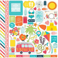 "Echo Park - Element Sticker 12""x12""- Summer Party (SP106014 )"