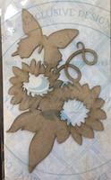 Blue Fern Studios - Chipboard - Blooms & Butterfly (687271)