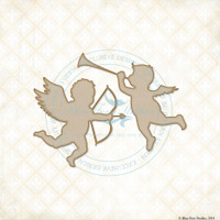 Blue Fern Studios - Chipboard - Valentine Cupids (074769)