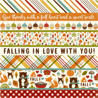 "Echo Park - Fall Is In The Air - Double -Sided Cardstock 12""x12"" - Border Strips (FIA112012 )"