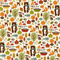 "Echo Park - Fall Is In The Air - Double -Sided Cardstock 12""x12"" - Fall Friends (FIA112005)"