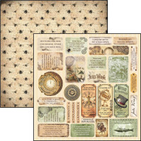 "Ciao Bella - 12""X12"" Double-Sided Paper - Voyages Extraordinaires - Mini Cards (CBVE12 073)"