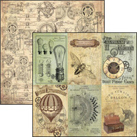 """Ciao Bella - 12""""X12"""" Double-Sided Paper - Voyages Extraordinaires - Cards (CBVE12 074)"""