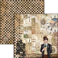 """Ciao Bella - 12""""X12"""" Double-Sided Paper - Voyages Extraordinaires - Phileas Fogg ( CBVE12 076)"""