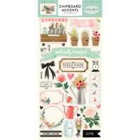 Carta Bella - Chipboard 6x12 - Flower Market - Accents (CBMK96021)