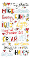 "Simple Stories - Chipboard Word Stickers 6""X12"" - Say Cheese 4 (SAY10537)"