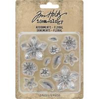 Tim Holtz - Idea-Ology - Metal Adornments - Floral ( TH93789)
