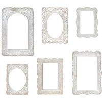 Tim Holtz - Idea-ology - Baseboard Frames - Lace 6/Pkg (TH93786)